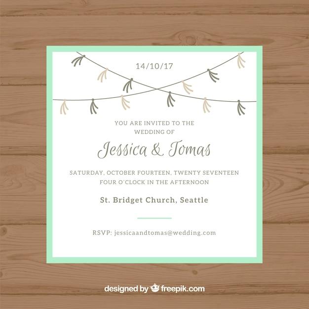 Minimalist wedding invitation template vector free download minimalist wedding invitation template free vector stopboris Images