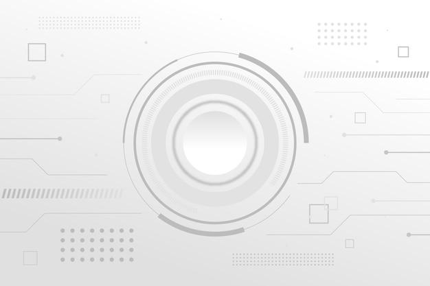 Minimalist white circuit tech background Free Vector