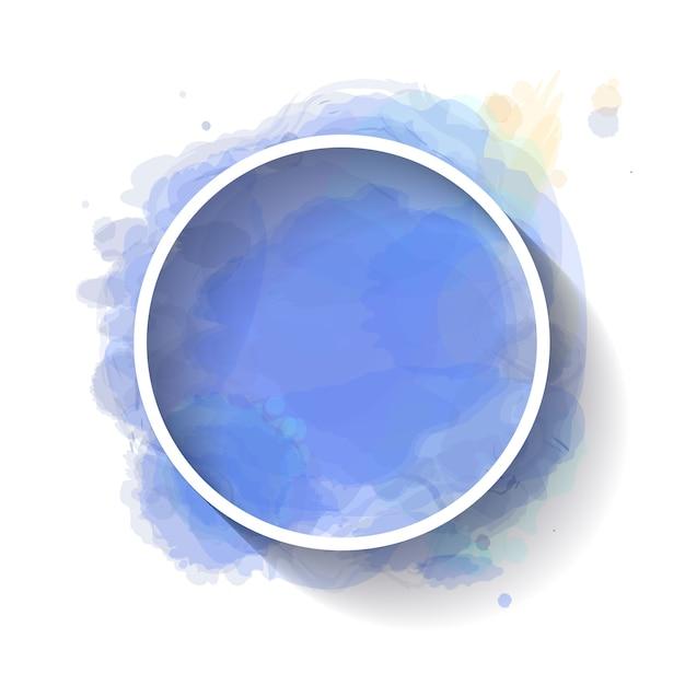 Minimalist white frame with watercolor Premium Vector