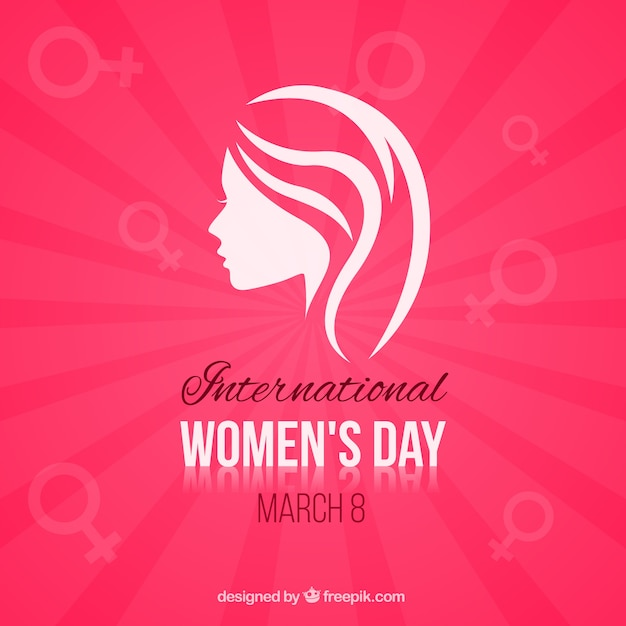 Minimalist Women's Day card  Free Vector