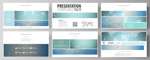 The minimalistic abstract vector illustration of the editable layout of high definition presentation slides design business templates. Premium Vector