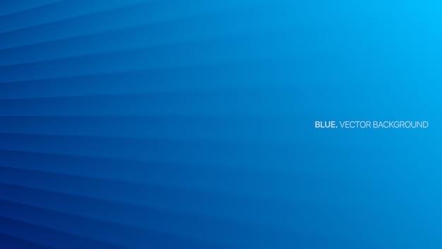 Минималистичные синие гладкие трехмерные линии перспективы Premium векторы