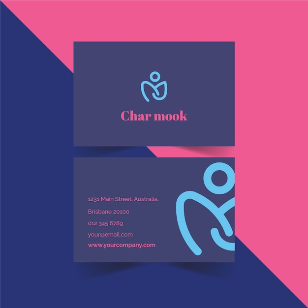 Minimalistic business card template Free Vector