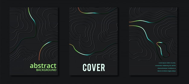 Minimalistic cover set Premium Vector