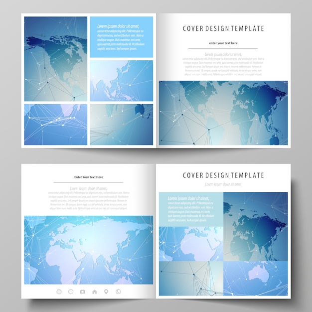 Minimalistic editable layout of two covers Premium Vector