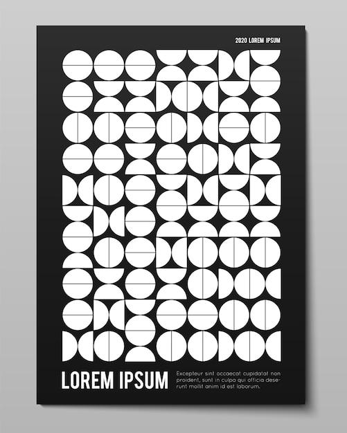 Минималистичный плакат с простыми геометрическими фигурами Бесплатные векторы