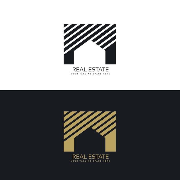 Minimalistic real estate logo