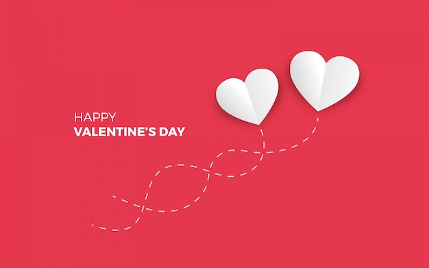 Minimalistic valentine's day background Free Vector