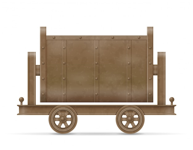 Mining trolley cart vector illustration Premium Vector