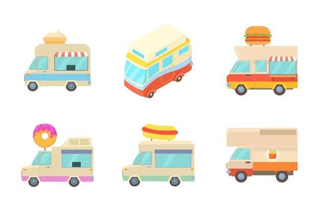 Minivan icon set Premium Vector