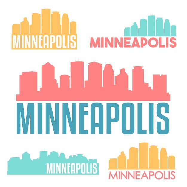 Minneapolis logo collection Premium Vector