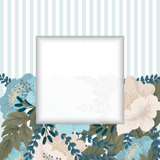 Mint green floral background flower border Free Vector