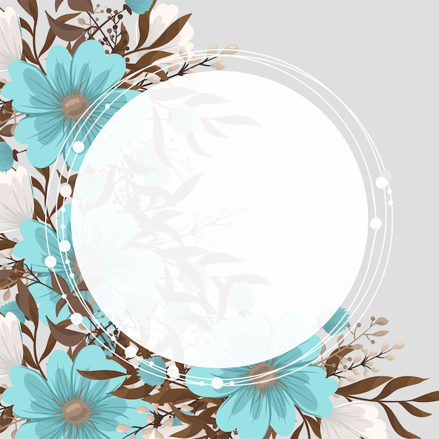 Mint green floral Free Vector