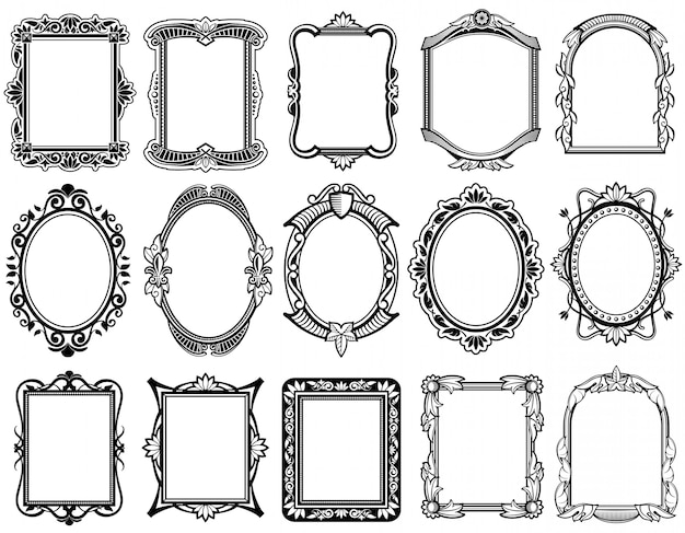 Mirror collection Premium Vector