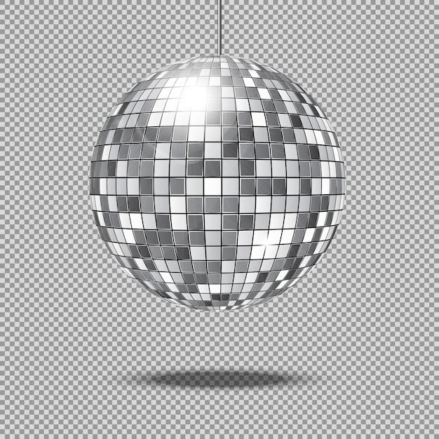 Mirror glitter disco ball vector illustration Premium Vector