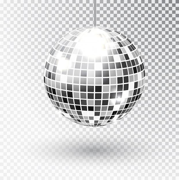 Mirror glitter disco ball Premium Vector