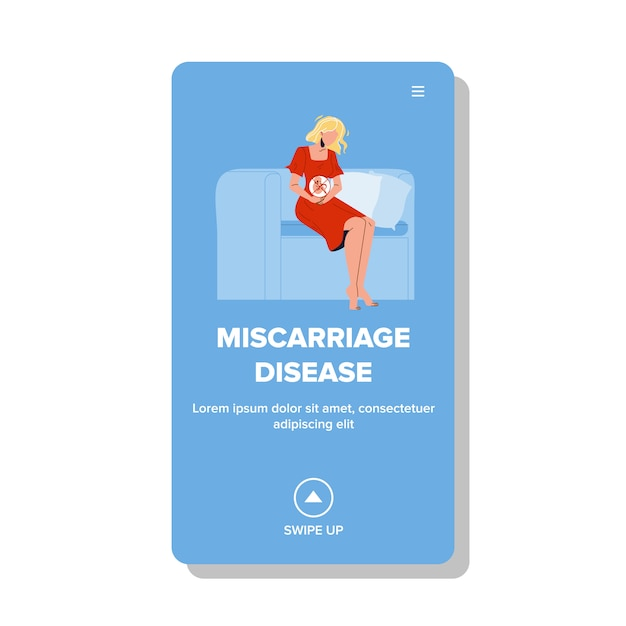 Miscarriage disease pregnant girl problem Premium Vector