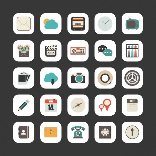 Miscellaneous icon collection Free Vector