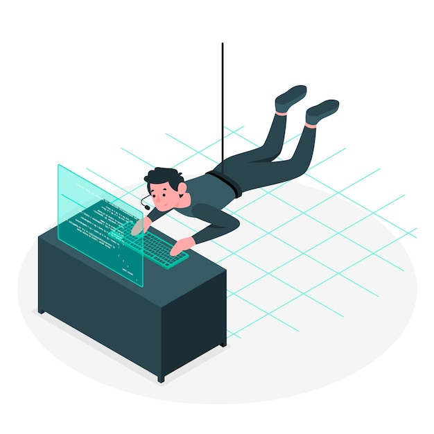 Mission impossible concept illustration Free Vector