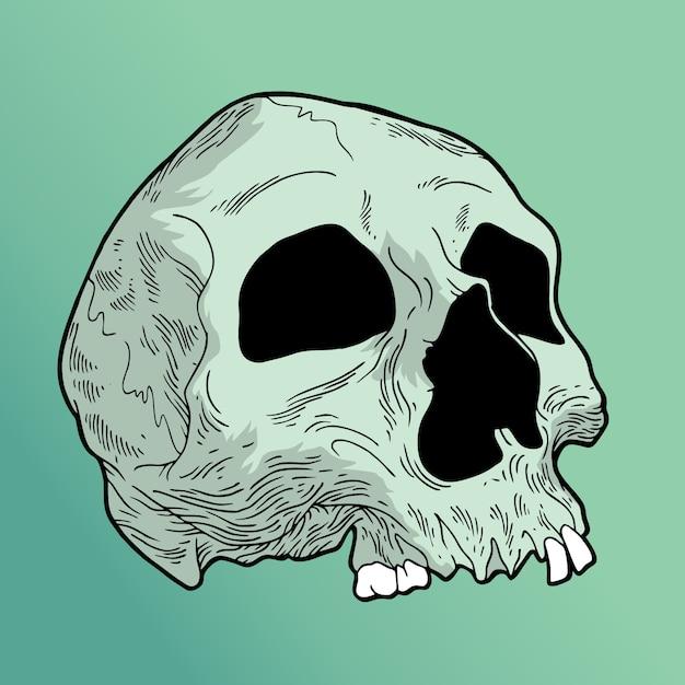 Mistick skull Premium Vector