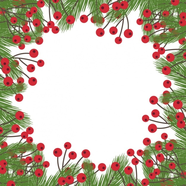 mistletoe christmas background free vector - Mistletoe Christmas