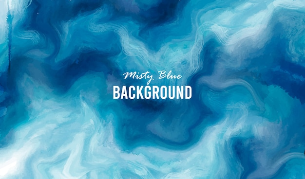 Misty blue background Free Vector