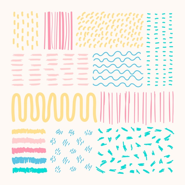 Mixed background patterns Free Vector