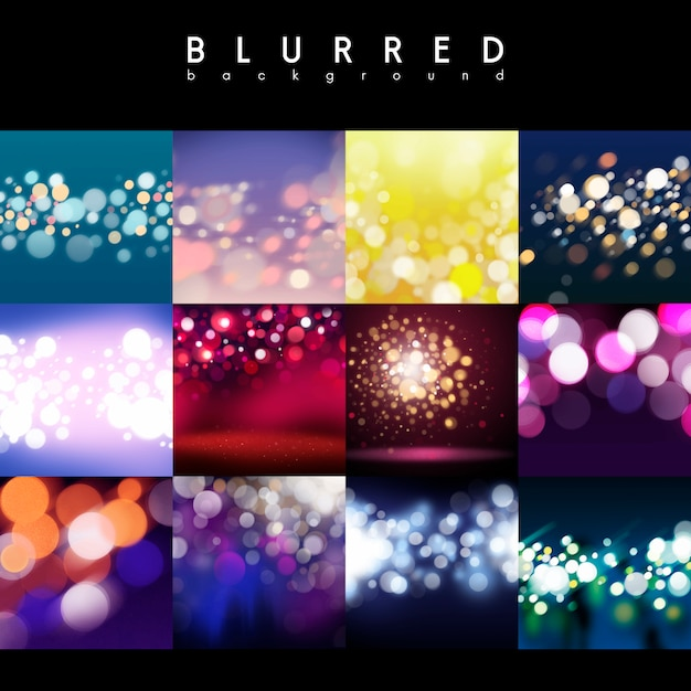 Mixed bokeh backgrounds Free Vector