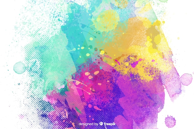 Mixed colors background childish style Free Vector