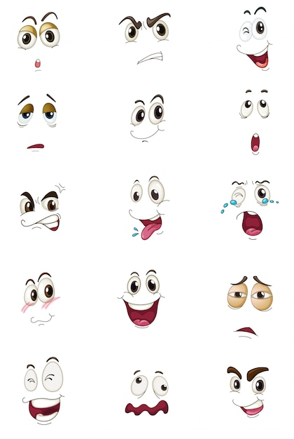 Mixed expressions Free Vector
