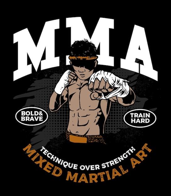 The mixed martial art fighter Premium Vector