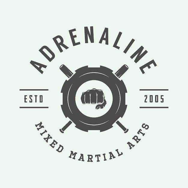 Mixed martial arts logo Premium Vector
