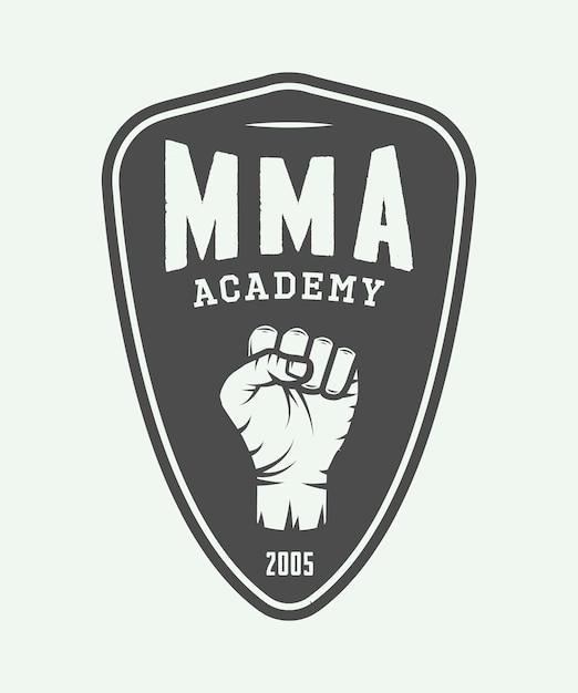 Mixed martial arts logo Premium Vector