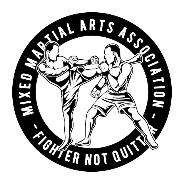 Mixed martial arts Premium Vector
