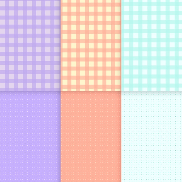 Mixed pattern pastel background vectors Free Vector