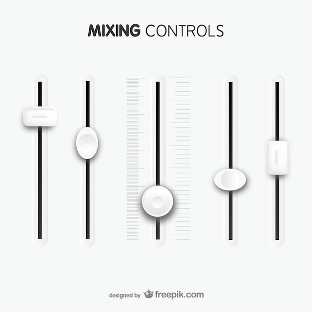 Mixing controls template Free Vector