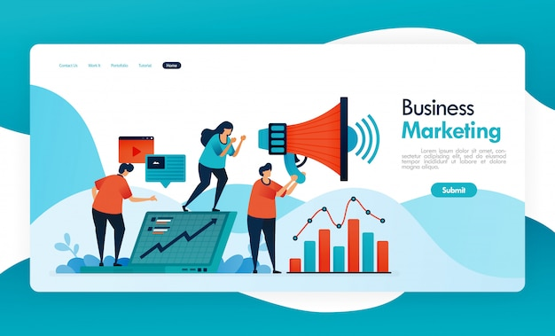 Бизнес-баннер для направления друга, реферальная программа mlm, партнерский агент и маркетинг, увеличение дохода за счет приглашения друга, мегафон для продвижения и рекламы. Premium векторы