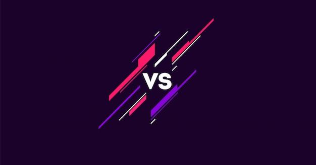 シンプルな要素がフラットの暗い対ロゴ。スポーツと戦いの競争のための手紙対。 mma、バトル、vsマッチ、ゲームコンセプト競争vs. Premiumベクター