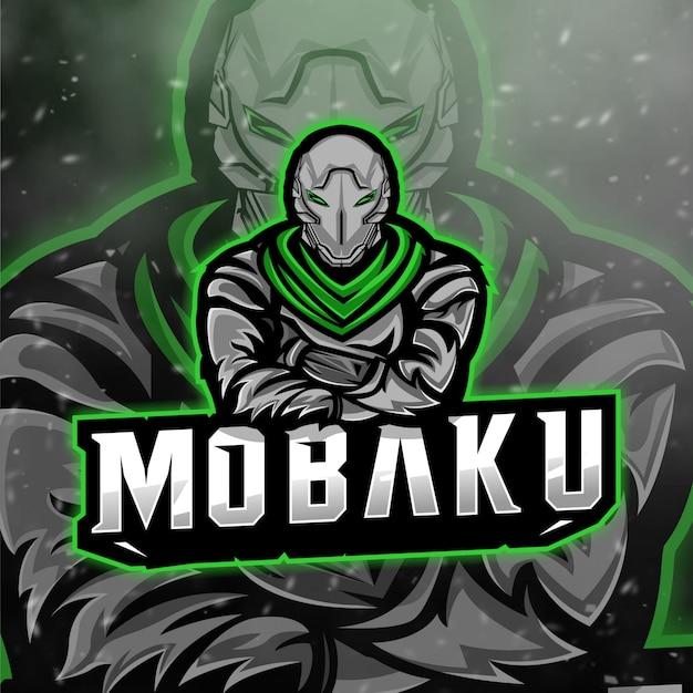 Mobaku esport logo for gamingストリーマーおよびチーム Premiumベクター