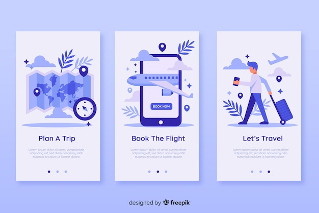 Mobile app concept Free Vector