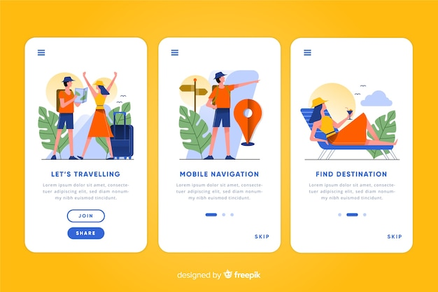 Mobile app concept Free Vector