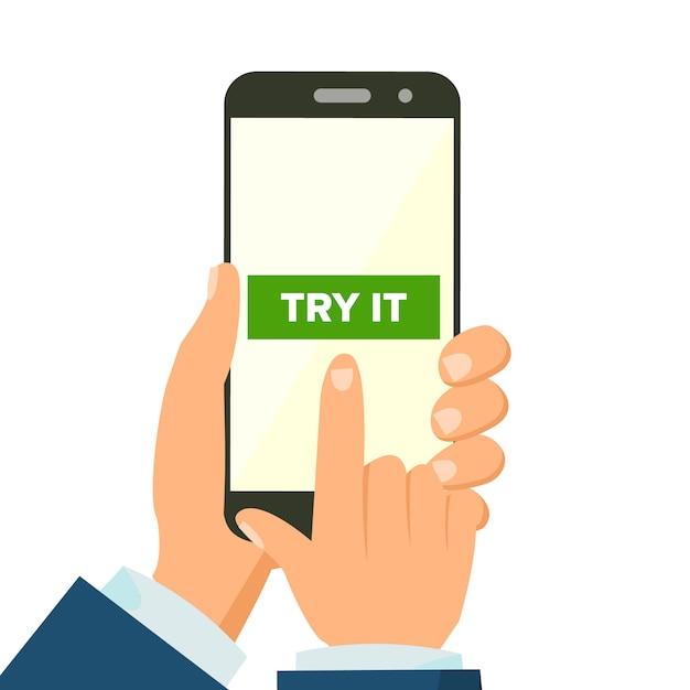 Mobile app concept Premium Vector
