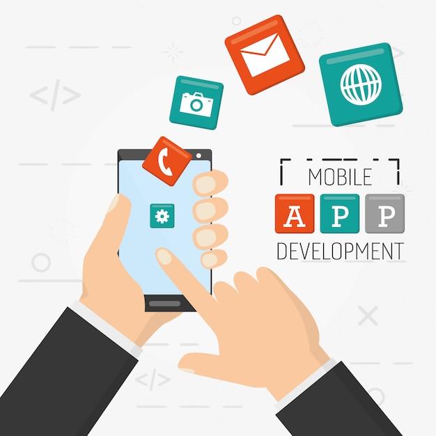 Mobile app development Free Vector