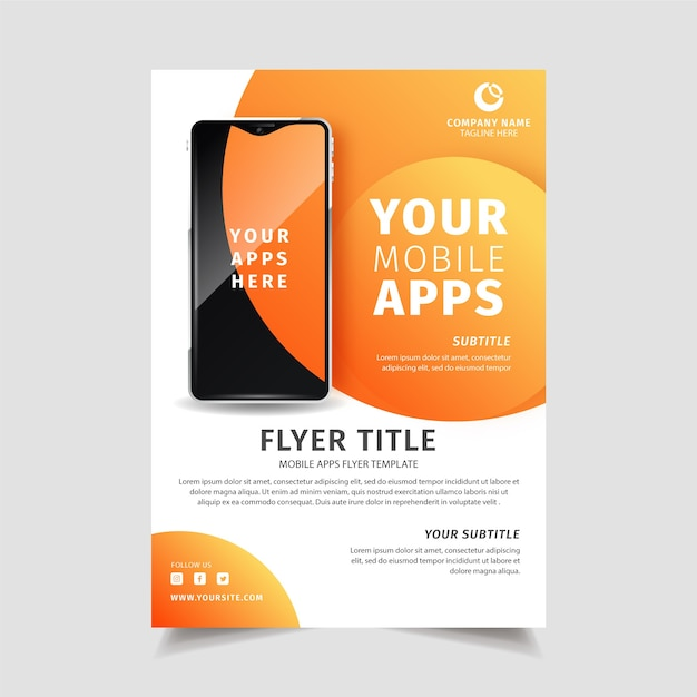 Mobile App Flyer Free Vectors, Stock Photos & PSD