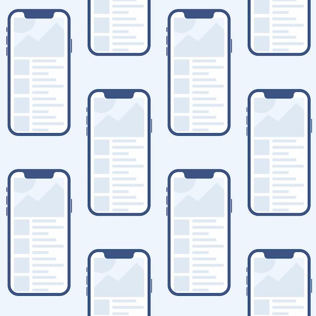 Мобильное приложение для android и ios макет шаблона Premium векторы