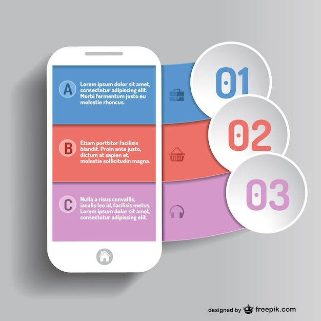 Mobile app infographic Vector | Free Download