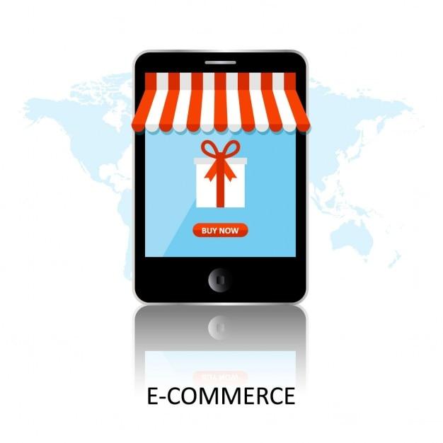 c144821c909 Mobile app for online shopping Free Vector