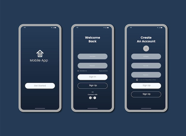 Sign up mobile Account