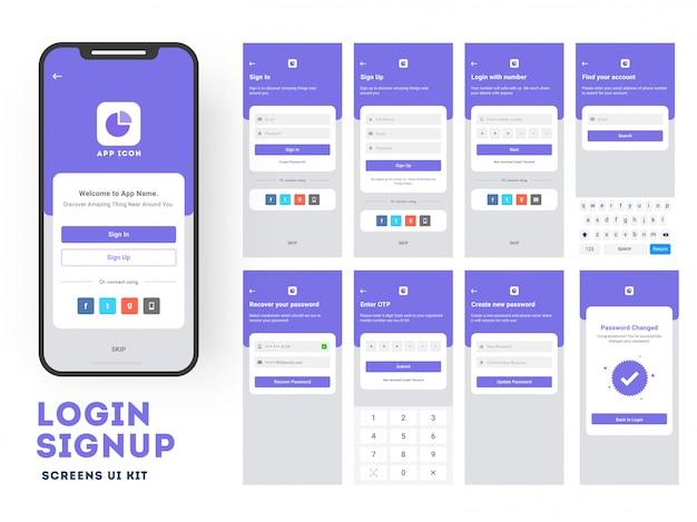Mobile app ui  Vector | Premium Download