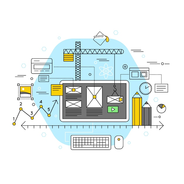 Mobile application flat concept Free Vector